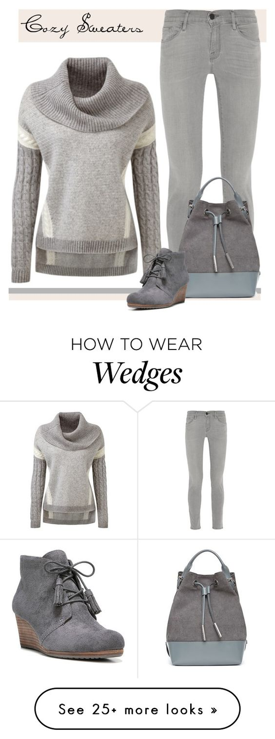 """Cosy Up"" by patricia-dimmick on Polyvore featuring Frame Denim, Opening Ceremony, Dr. Scholl's and sweaters"