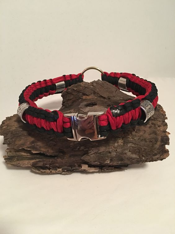 Red & Black with goose leg bands and safety loop
