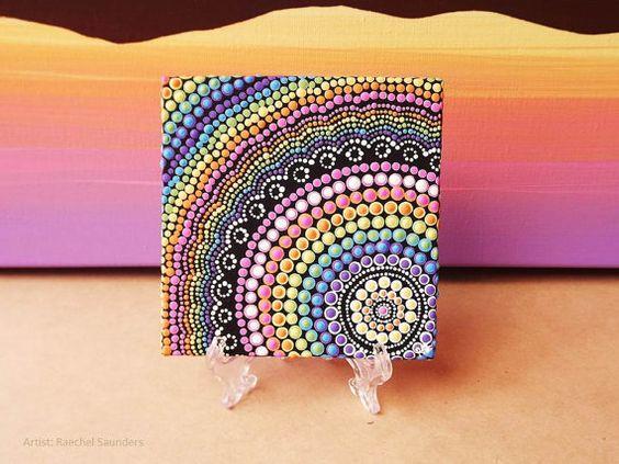 Pintura de arco iris acr lico pintar sobre lienzo junta - Cuadros con fotos originales ...