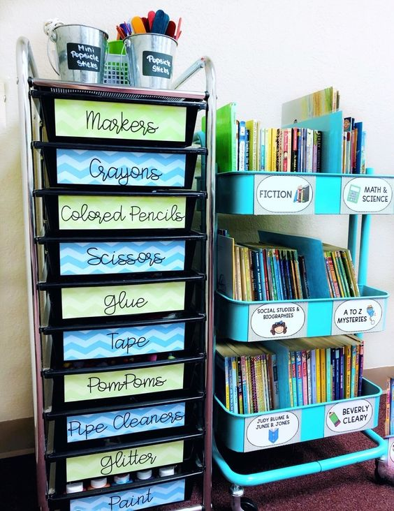 Classroom Storage Ideas for Teachers #classroomorganization #teacherorganization