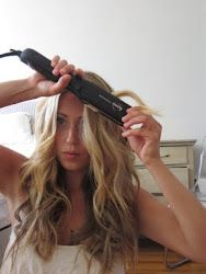 How to curl your hair with a straightener.