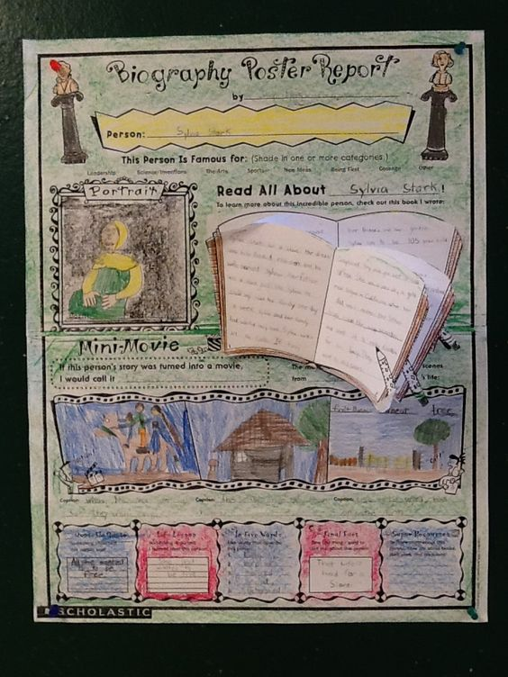 Biography poster and projects on pinterest