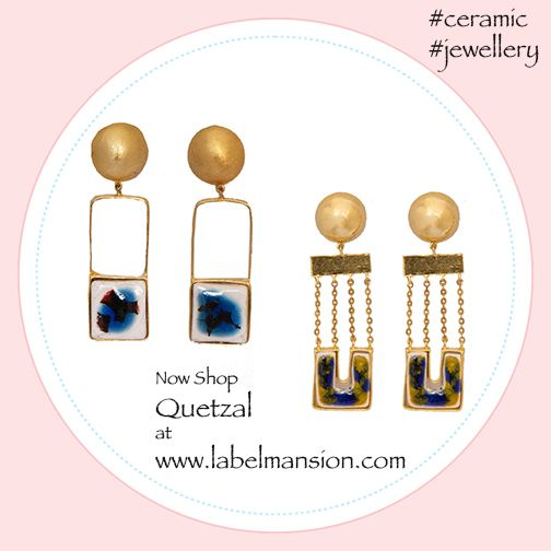 Looking for Ceramic & Metal beauties? Shop for the statement making Quetzal now at www.labelmansion.com #shopnow #newfind #labellove #ceramic #jewellery #jewels #earrings #colours #danglers #love #fashion #women #india #wednesday #labelmansion #ootd #ootn #bloggers #stylists #girls #girly #fashionistas