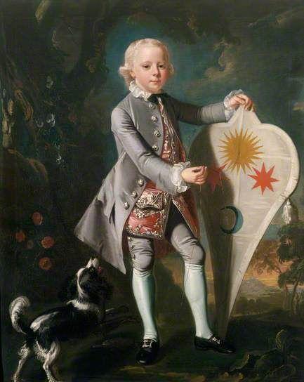 Master Stenninge (with faithful hound and fab kite!) by Mason Chamberlin the elder (circle of) c. 1750: