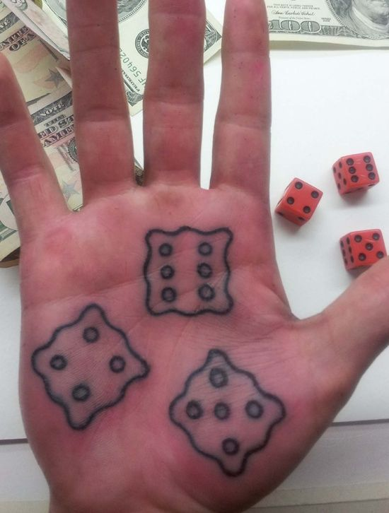 Dice Tattoo Designs: The Dice Tattoo Designs And Meaning On Palm ~ tattooeve.com Tattoo Design Inspiration