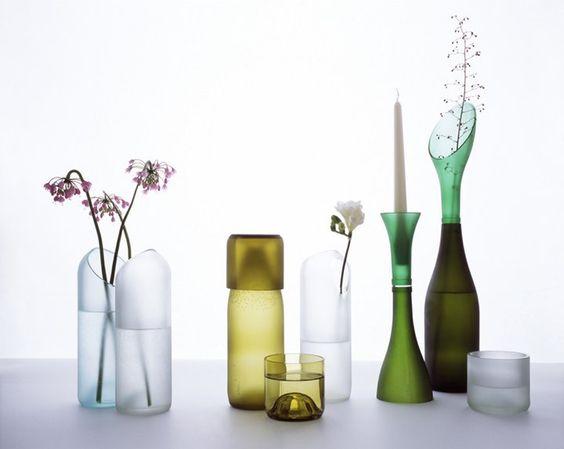 TranSglass, reuso de botellas de vidrio de una manera original, by Tord Boontje