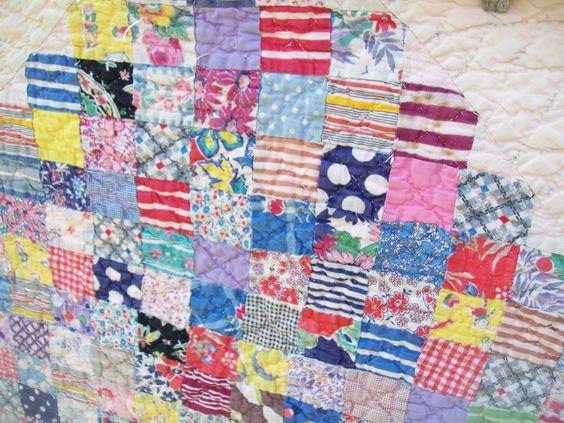 Vintage Handmade Quilt Postage Stamp | eBay