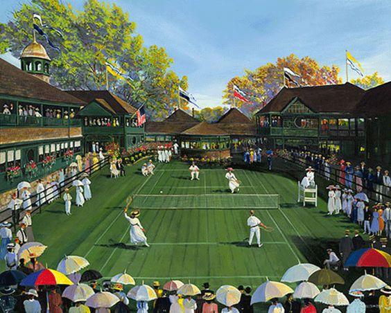 Newport Tennis - 2004 Artist: Sally Caldwell Fisher