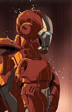 Es el súper héroe ironman(Tony stark)