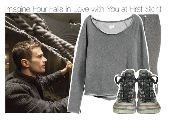"""Imagine Four Falls in Love with You at First Sight"" by xdr-bieberx ❤ liked on Polyvore featuring RVCA and Converse"