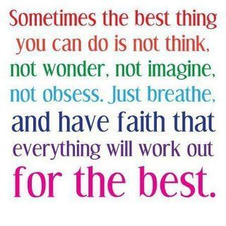 Always faith!