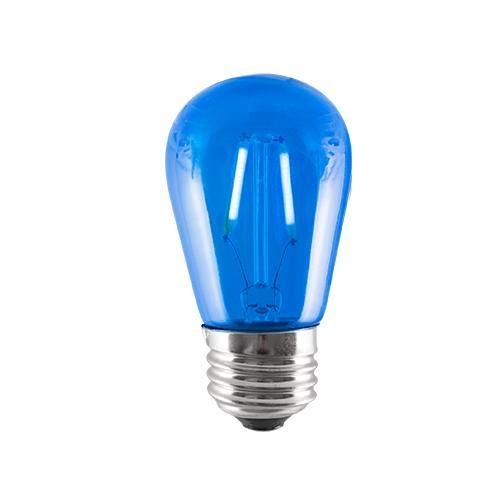 2 Watt Led S14 Sign Bulb 10w Equivalent Medium Base Blue Case Of 5 Light Bulb Bulb Light Bulb Candle