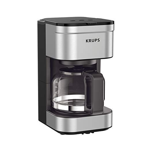 Krups Km202850 Simply Brew Compact Filter Drip Coffee Maker 5 Cup Silver Coffee Maker 1 Cup Coffee Maker Stainless Steel Coffee Maker