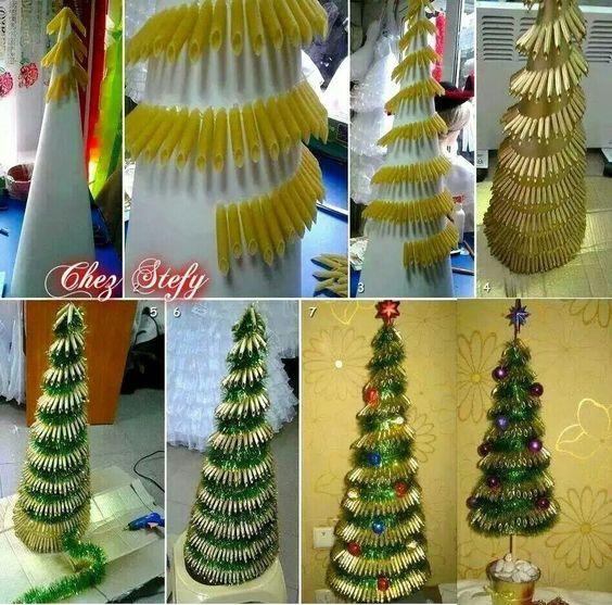 Árbol de Navidad de pasta