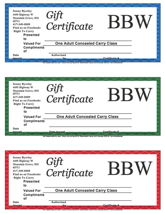 Sample Gift Certificate Template  HttpResumesdesignComSample