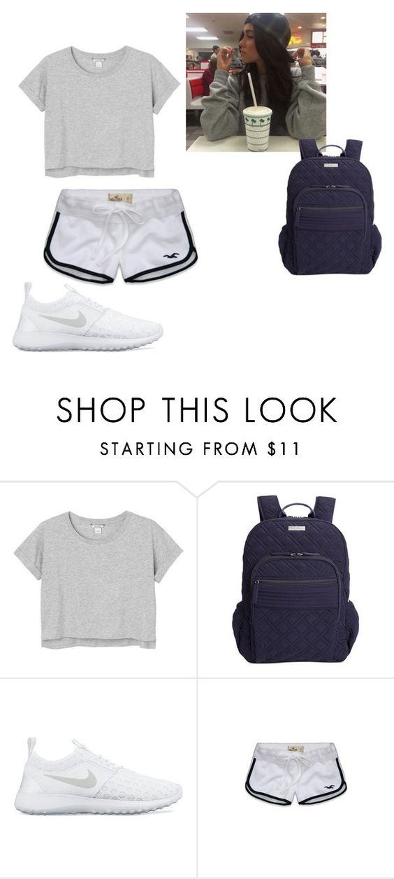"""Lazy"" by thedancingburrell ❤ liked on Polyvore featuring Monki, Vera Bradley, NIKE, Hollister Co., madisonbeer and magcon"