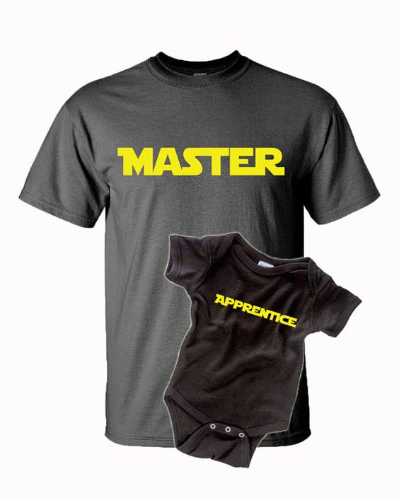 Master Apprentice Matching Dad Baby Shirts New