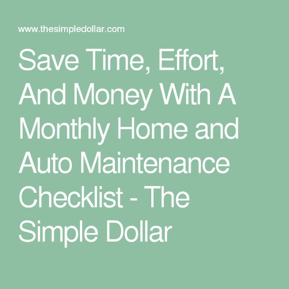 Save Time, Effort, And Money With A Monthly Home and Auto ...