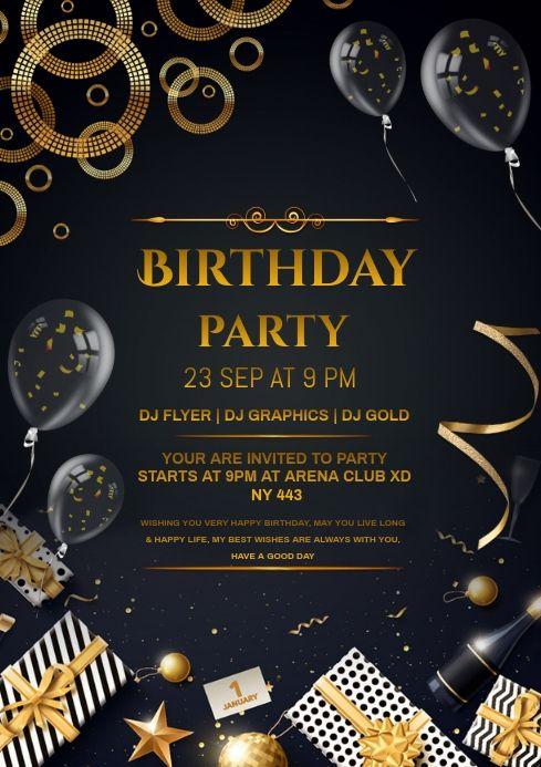 Birthday In 2021 Birthday Invitations Happy Birthday Invitation Card Birthday Invitation Card Template