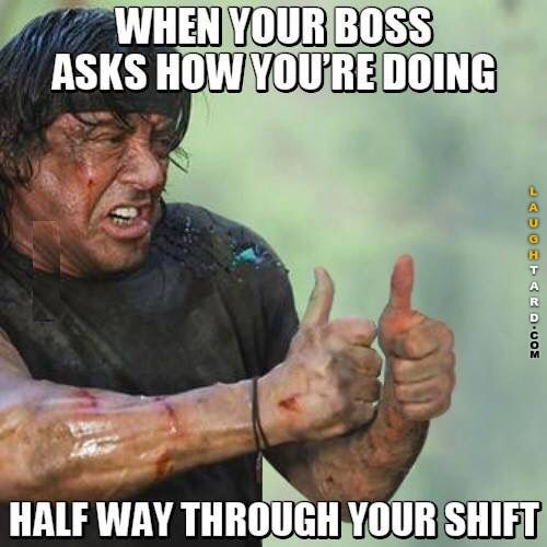 When your boss asks you how your doing