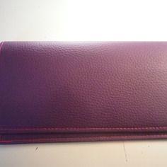 Rentrée scolaire - porte-chéquier en simili cuir violet non doublé, idée cadeau…