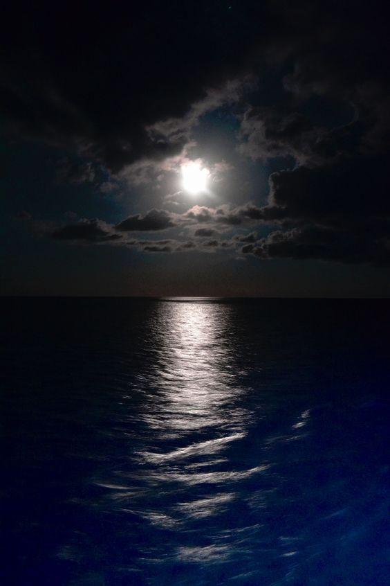 Moonrise - Taken off the side of the Disney Dream