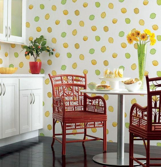 Tapeten für küche   23 frische ideen   esszimmer, innendesign