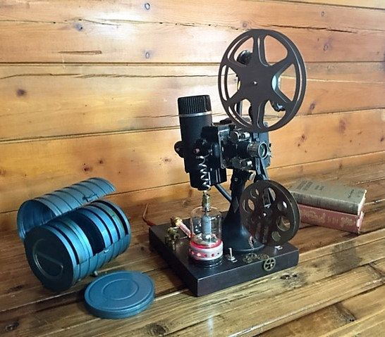 Man Cave With Projector : S era bell howell film projector man cave lamp