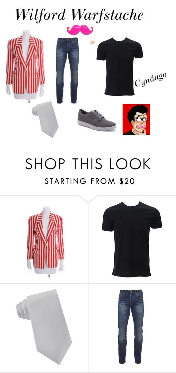 Wilford Warfstache (Original) ~Markiplier by carlisafights on Polyvore featuring Scotch & Soda, Vans, Lord & Taylor, Gianfranco Ferré, men's fashion and menswear