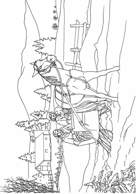country scenery coloring pages - photo#14