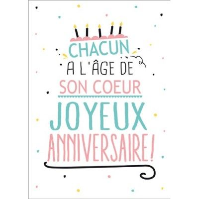 carte postale message anniversaire chacun l 39 age de son. Black Bedroom Furniture Sets. Home Design Ideas