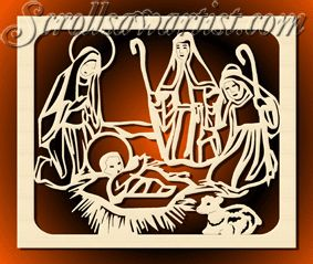 Mother's Day Scroll Saw Patterns | Mary, Jesus & shepherds