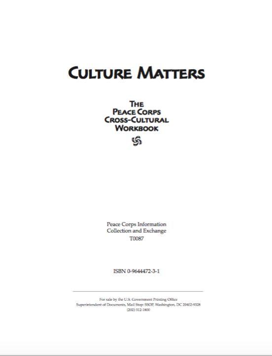 Peace Corps Culture Matters pdf u003c breaks down culturally driven - sample masshealth fax cover sheet