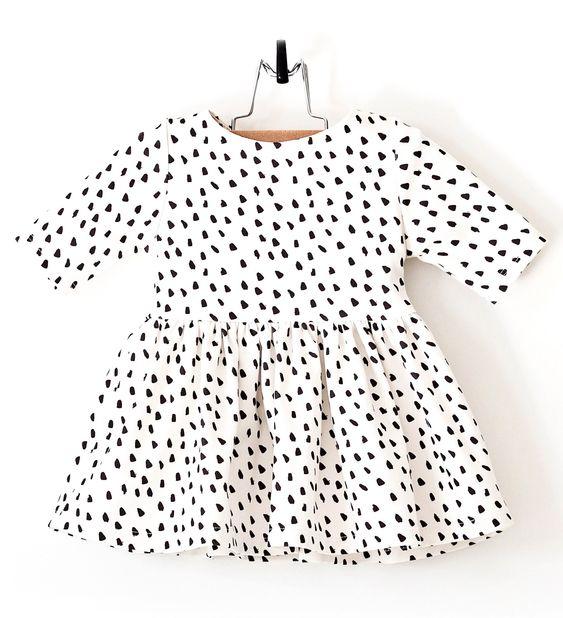 Dalmatian Print Baby Girl Dress