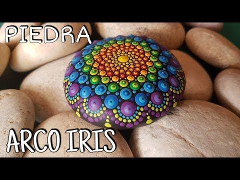 Como Pintar Mandalas En Piedras 4 Piedra Arco Iris Youtube Como Pintar Mandalas Piedras Mandalas Rocas Mandala
