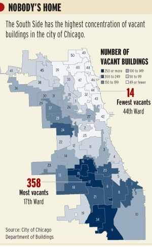 A look at #Chicago vacant homes by wards. #Realestate