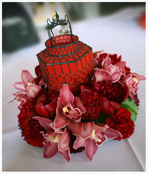 Chinese new year centerpiece ideas decorating