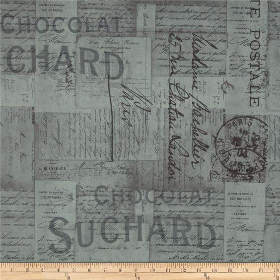 Tim Holtz Eclectic Elements French Script Taupe from @fabricdotcom  Designed by Tim Holtz, this cotton print fabric is perfect for quilting, apparel, crafts, and home decor items. Colors include grey and black on taupe.  Ottoman