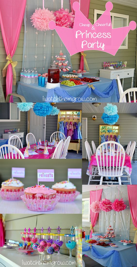 How to create this cheap and cheerful Princess Party - iwatchthemgrow.com