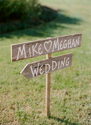rustic signage | photo by Kate Headley