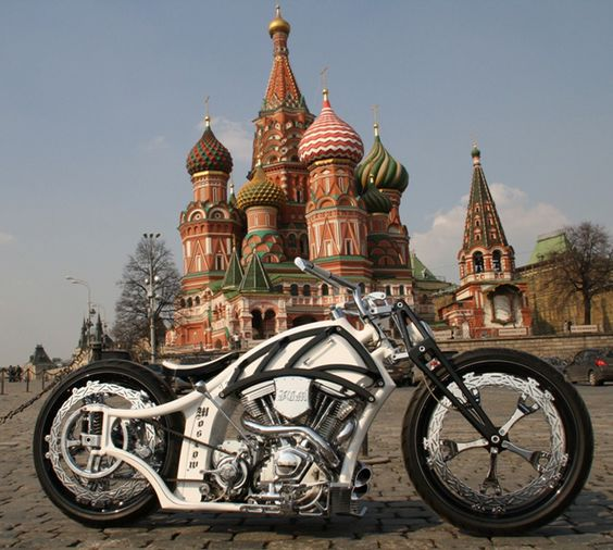 This is a really cool Russian bobber motorcycle.