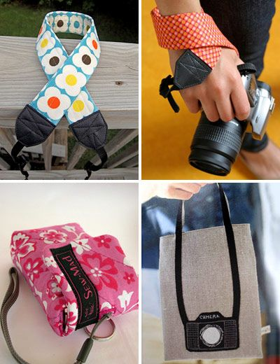 Camera sewing projects. Yahoo.. I will make the color I like not the plain black and I'll make it more soft easy on my neck!!: Camera Crafts, Camera Tutorials, Sewing Projects, Camera Bags, Sewing Ideas, Sewing Tutorials