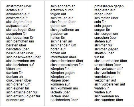 Verben mit Präposition und Akkusativ | Deutsch: Grammatik ...