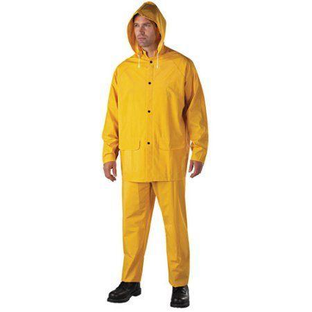 Anchor Brand - Rainsuit, PVC/Polyester, Yellow, Adult Unisex, Size: 2XL