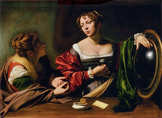 Michelangelo Merisi da Caravaggio - Martha and Mary Magdalene - WGA04101.jpg