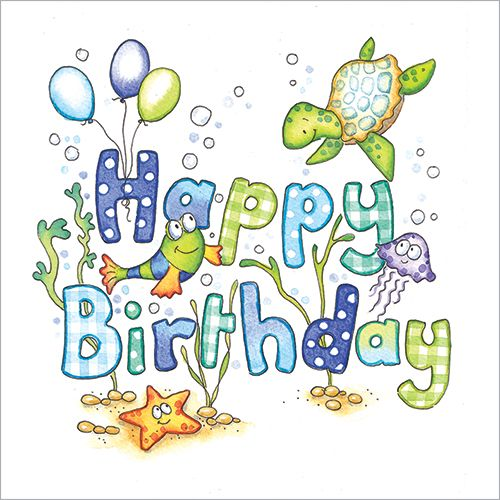 Under The Sea Happy Birthday Card For Kids Kids Birthday Cards Happy Birthday Cards Birthday Cards