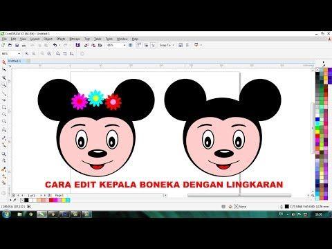 Desain Kepala Mickey Dengan Lingkaran Youtube Boneka Menggambar Kepala Cara Menggambar