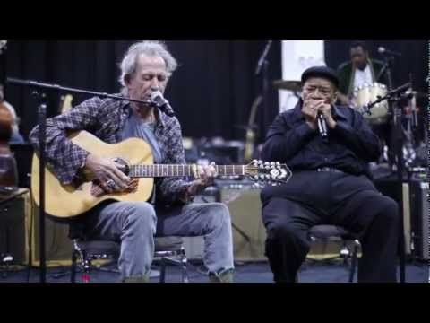"""Video of Keith and James Cotton performing """"Little Red Rooster"""" during rehearsals for the Hubert Sumlin Benefit concert."""