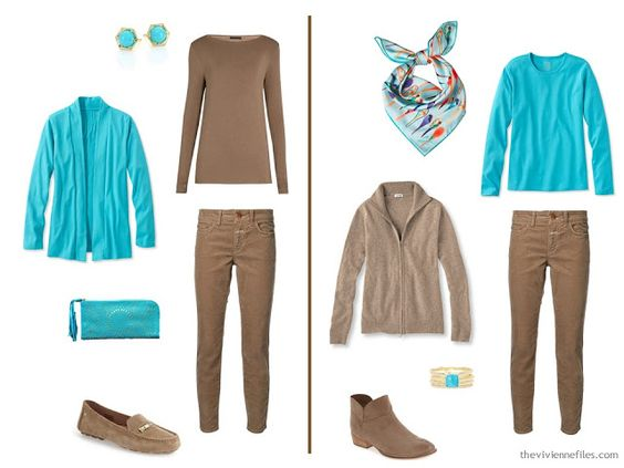 The Vivienne Files: A Touch of Turquoise, with Six Neutrals
