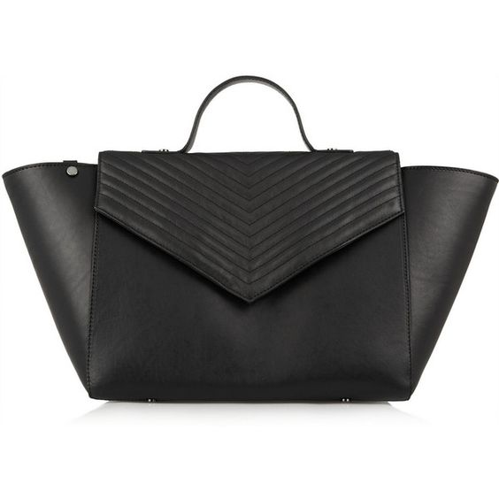 Iris and Ink Lexie chevron-quilted leather tote (€275) ❤ liked on Polyvore featuring bags, handbags, tote bags, black, black quilted handbag, black handbags, chevron purse, quilted tote and black quilted tote